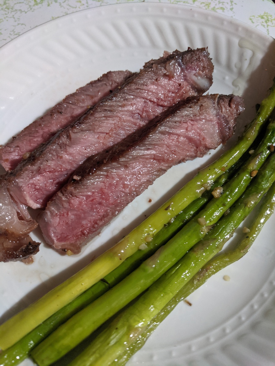 New York Strip -- Cooked