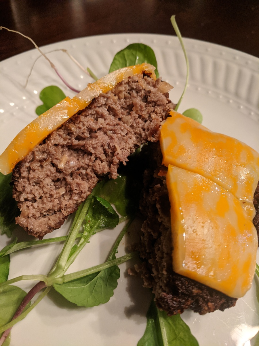 Homemade burger